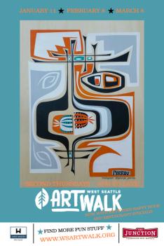 Art Walk Walking Map Q1 2018