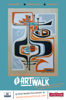 Art Walk Walking Map Q1 2018