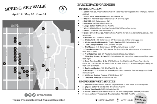 Art Walk Map Back 2018 Q2