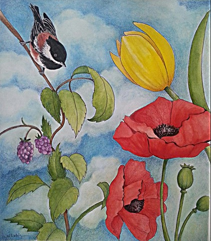 West Seattle Garden Tour Art Competition group show at Windermere