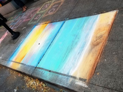 Chalk art by Divina Clark
