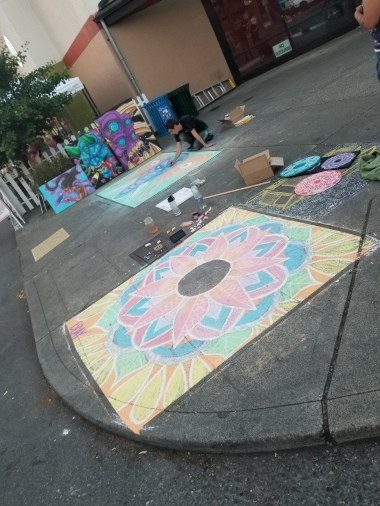 Chalk art by Briana Day