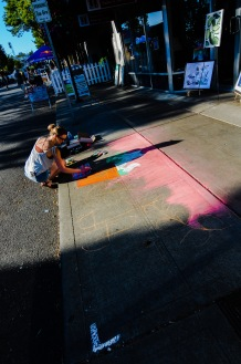Chalk art by Breanna Welsh