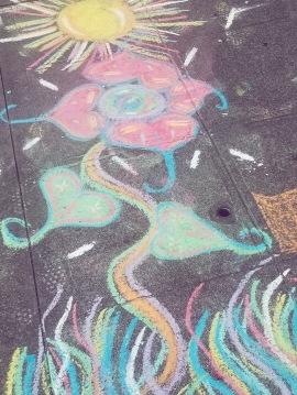 Chalk art by Amanda Falwell
