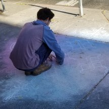 Chalk art by Colin Mason