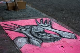 Chalk art by The Odditorium Obscura