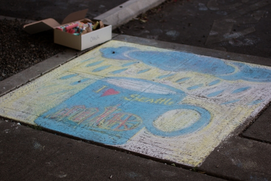 Chalk art by Tatyana Brown