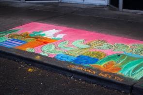 Chalk art by Breanna Welsh