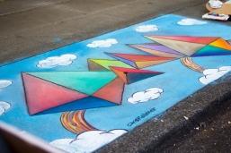 Chalk art by Chris Kelleher