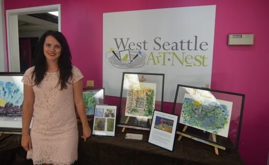 Tara Nelson at West Seattle Art Nest