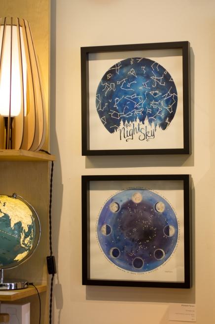 Watercolor group show at Click!