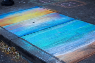 Chalk art by Divina Clark