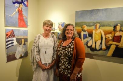 D Lisa West and Anita West at Wallflower Custom Framing