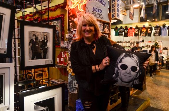 Karen Mason Blair at Easy Street Records