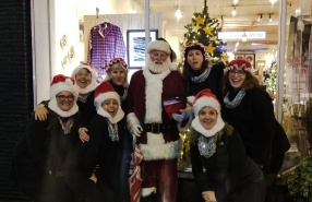 The Silver Belles and Santa