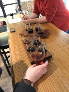 Art Walk Special tasting flight at Beer Junction