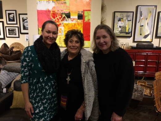Magdalena Cooney, Mary Parkes and Christine Olson at Capers' Group Abstract Invitational