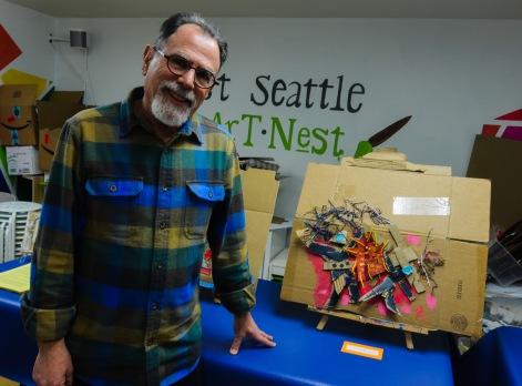 Richard Gold at West Seattle Art Nest