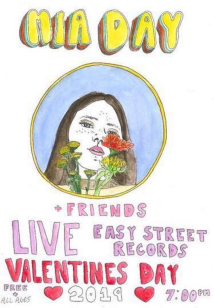 Mia Day, live performance, at East Street Records