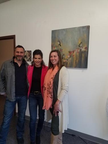 Maari Falsetto, Costinel Anciu and Artist Debbie Bianchi at Inner Alchemy