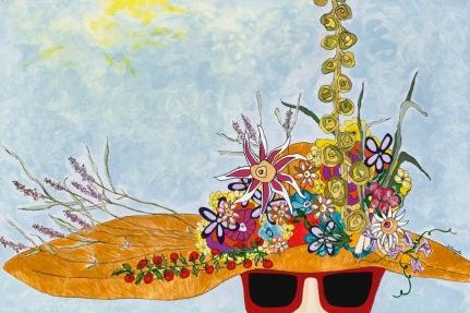 Garden Girl in Red Shades, Sheila Lengle