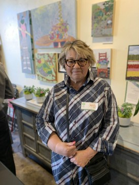 Sheila Lengle, West Seattle Garden Tour Art Competition Winner, at Capers Home