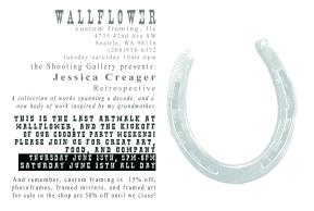 Jessica Creager at Wallflower Custom Framing