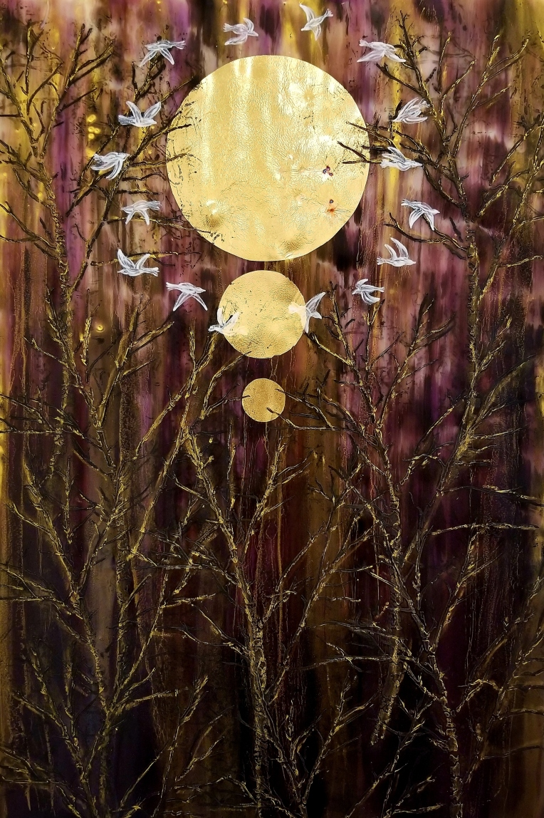 Salyna Gracie at NW Encaustics Gallery at The Building