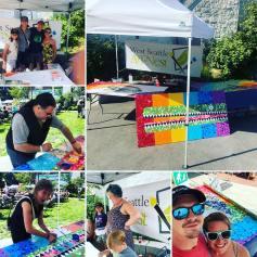 West Seattle Art Nest's community mural creation during Summer Fest 2019