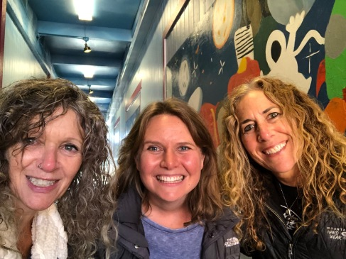 Lora Radford, Executive Director of the West Seattle Junction Association, Mary Murphy, Co-owner of West Seattle Art Nest, and Stacey Sterling, Artist