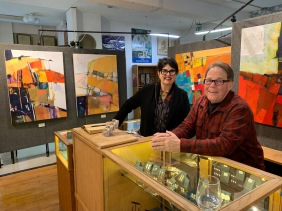 Diane Venti and Loren Lukens at Brace Point Pottery