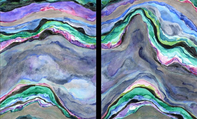 7 Agate diptych