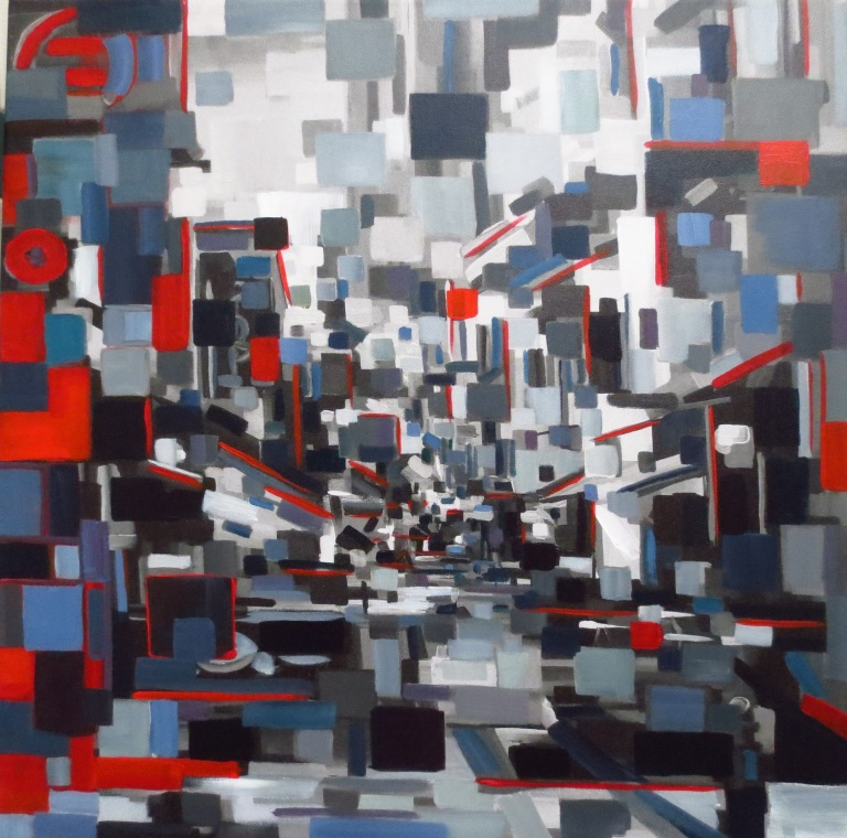 city_in_red_24x24_acrylic_and_giclee_1100_framed