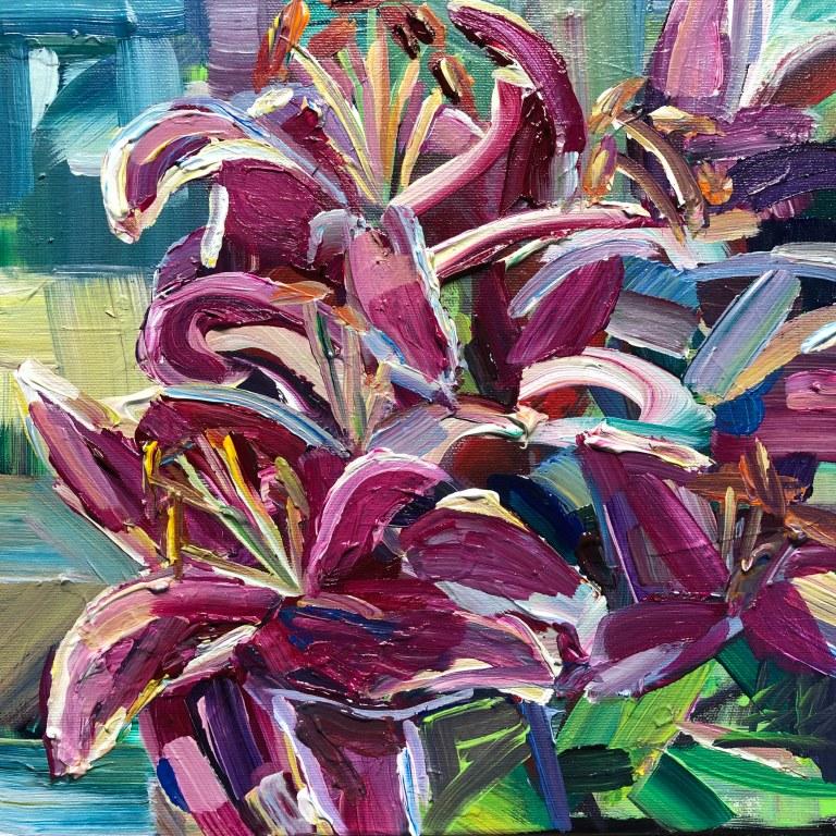 magentalilies_12x12_acrylic_375_framed