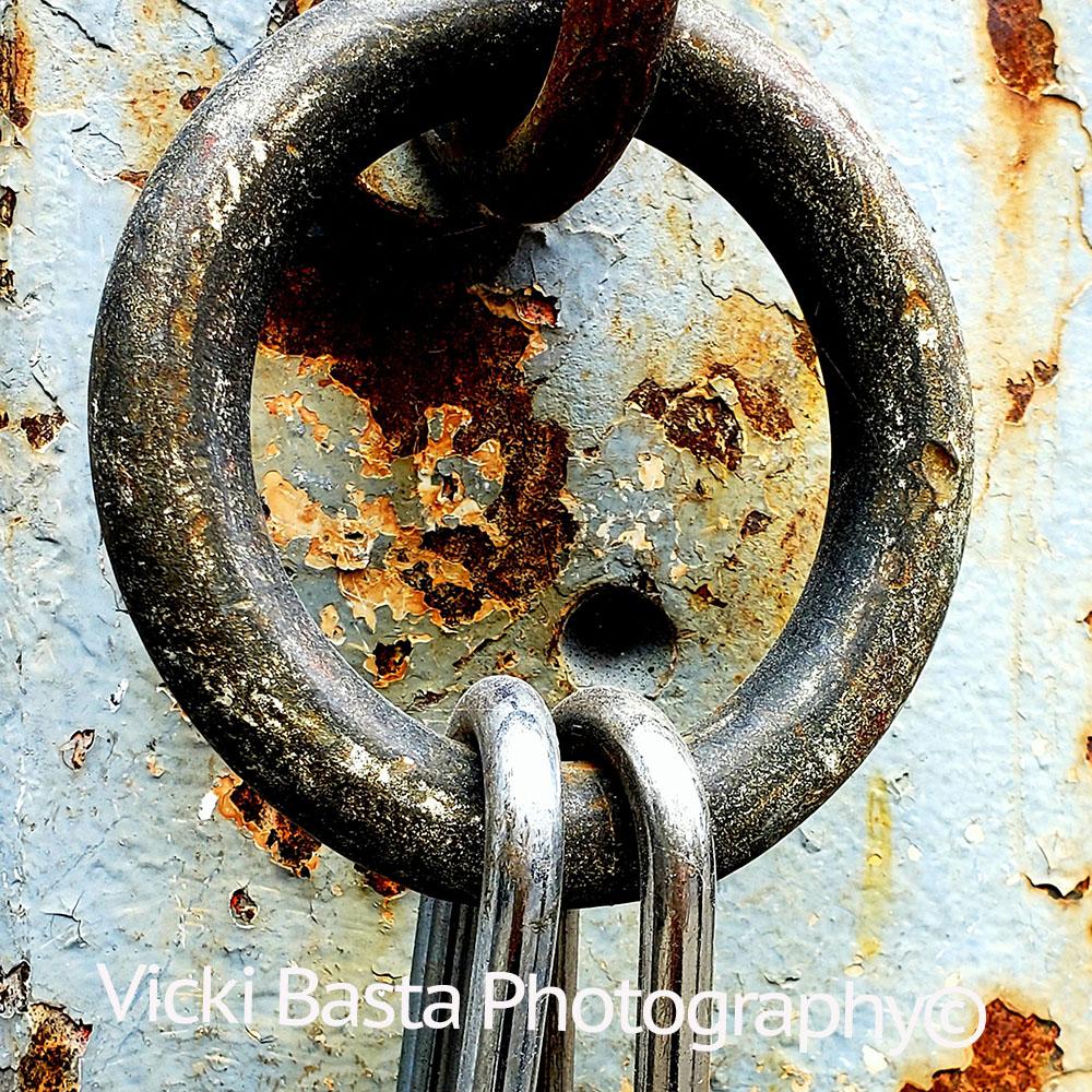 Metal Loop w Peeling Rust Med Logo