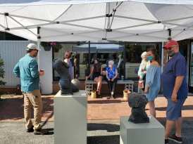 Art on the Bricks! Mimi Miles at Brace Point Pottery and Gallery
