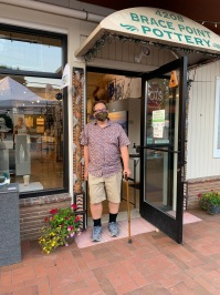 Loren Lukens, owner, Brace Point Pottery & Gallery