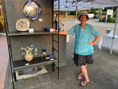 Ginny Conrow at Brace Point Pottery Art on the Bricks